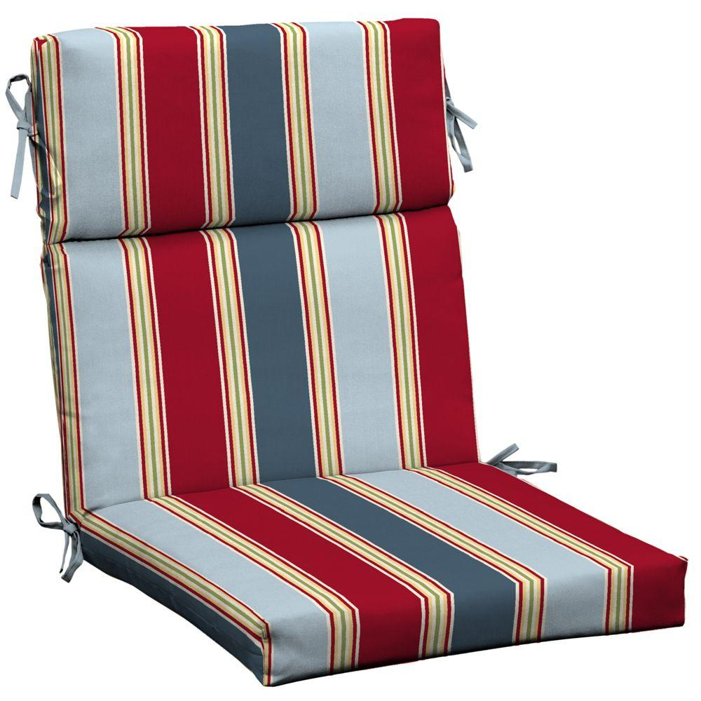 Hampton Bay Jordan Stripe Dining Chair Cushion-DISCONTINUED