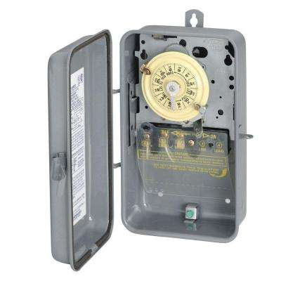 T101R Series 40 Amp 125-Volt 24 Hour SPST Mechanical Time Switch with Outdoor Enclosure
