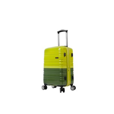 2Tone Green 20 in. Expandable Hardside Spinner Carry on Suitcase