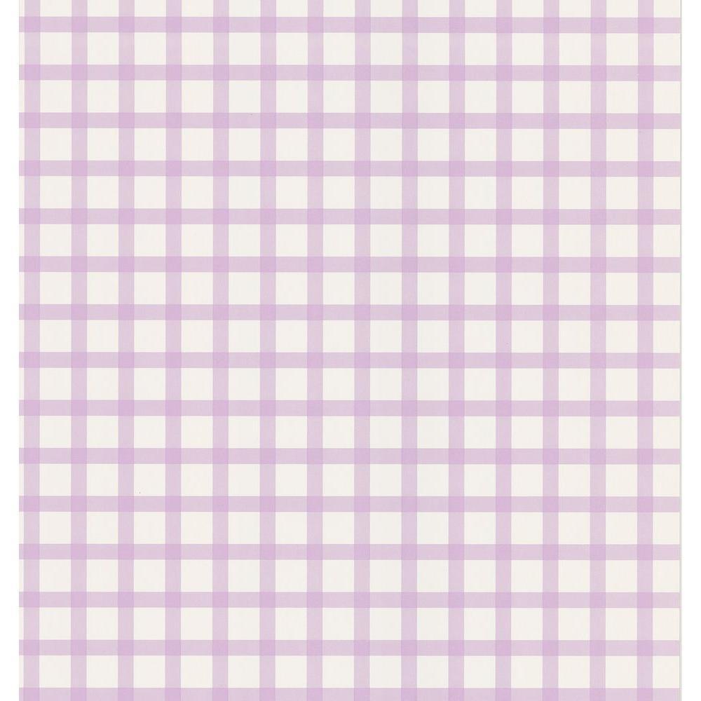 Lilac Plaid Wallpaper Sample