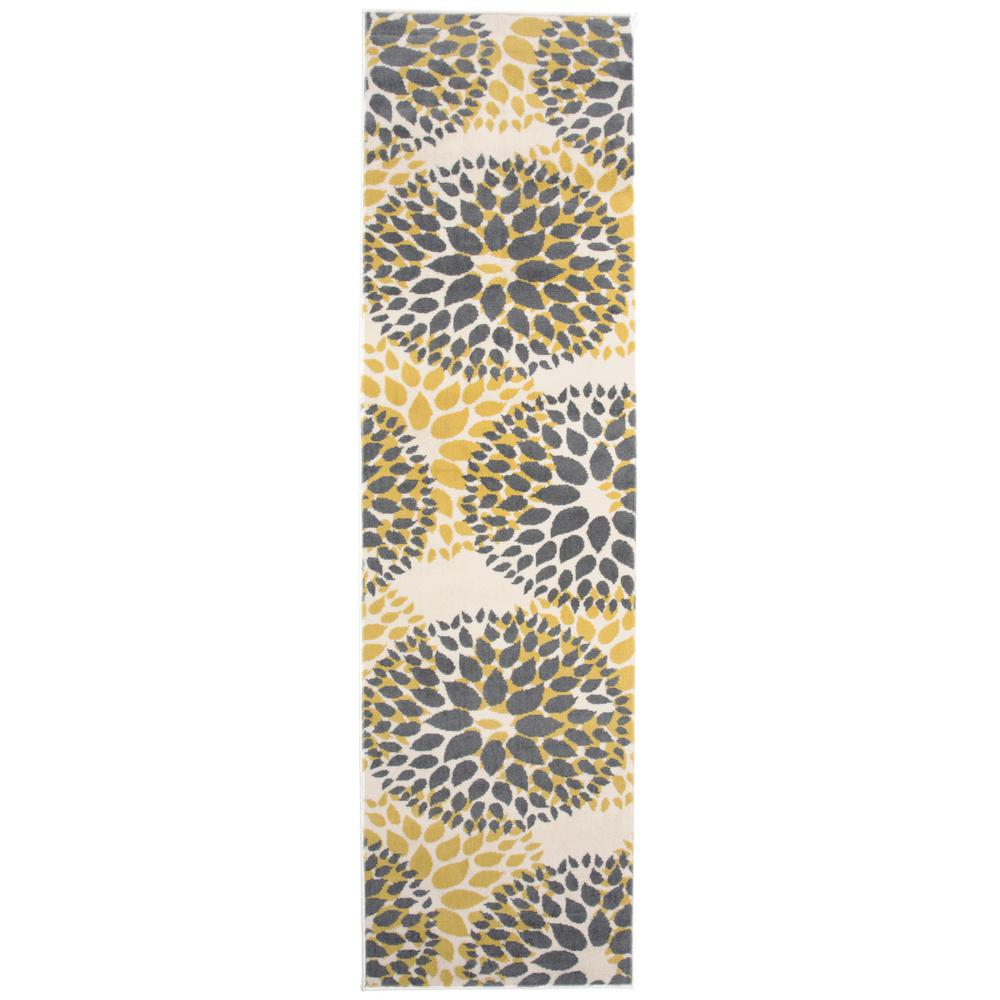 World Rug Gallery Modern Contemporary Floral Circles