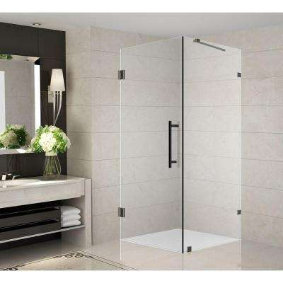 Aquadica 34 in. x 34 in. x 72 in. Completely Frameless Square Shower Enclosure in Oil Rubbed Bronze