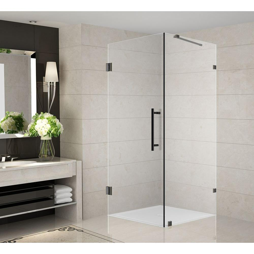 Aston Aquadica 38 in. x 38 in. x 72 in. Completely Frameless Square ...