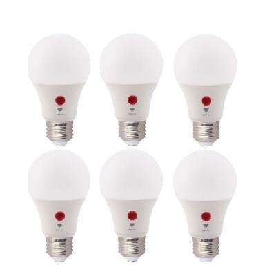 60-Watt Equivalent A19 800 Lumens Dusk To Dawn LED Light Bulb, Daylight 5000K (6-Pack)