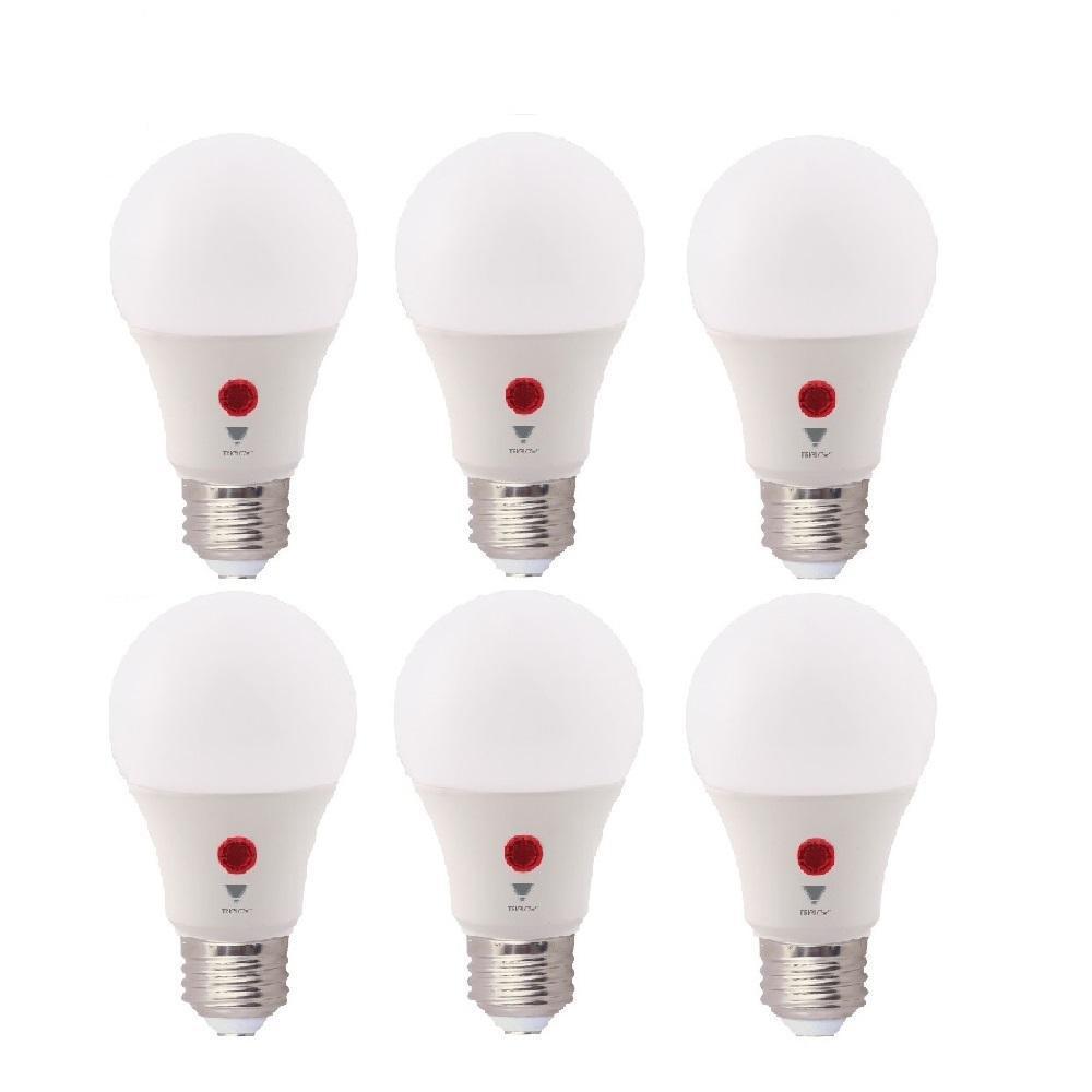 60-Watt Equivalent A19 800 Lumens Dusk To Dawn LED Light Bulb, Daylight 5000K (6-Pack)
