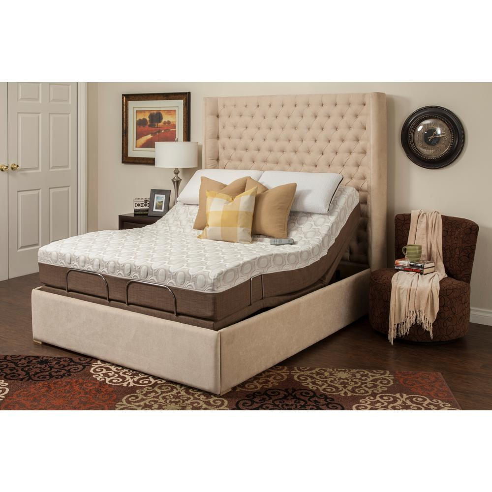 Blissful Nights Queen Memory Foam Mattress Adjustable Base Set