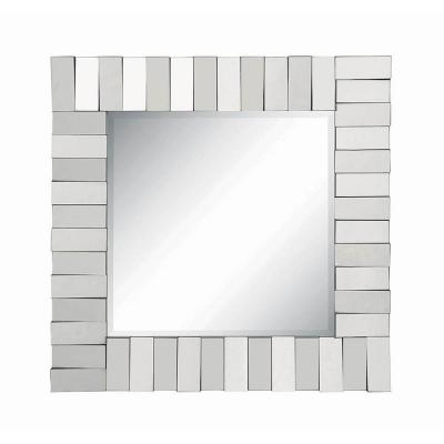 Medium Square Silver Contemporary Mirror (31.5 in. H x 31.5 in. W)