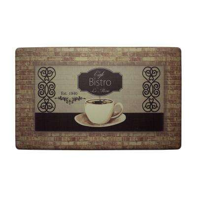 Cafe Bistro 18 in. x 30 in. Extra Thick Premium Foam Comfort Kitchen Mat