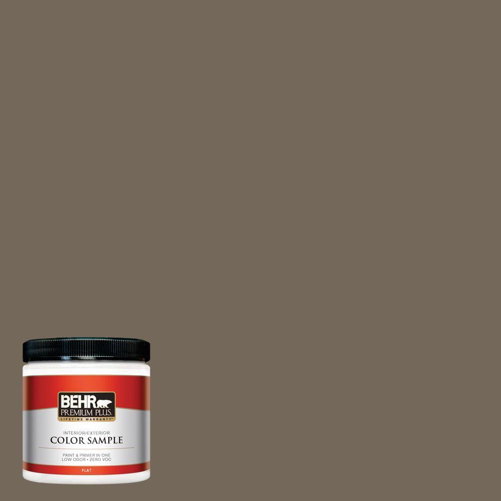 BEHR Premium Plus 8 oz. #720D-6 Toasted Walnut Interior/Exterior Paint Sample