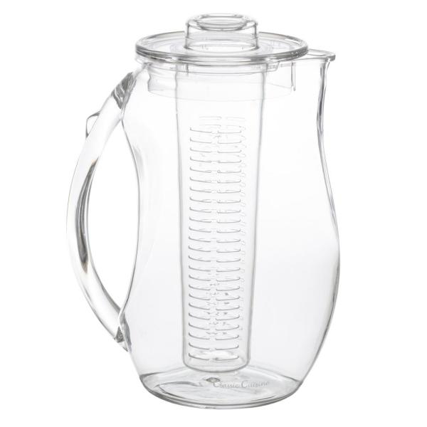 Classic Cuisine 96 oz. Clear Acrylic Infusion Pitcher HW031068
