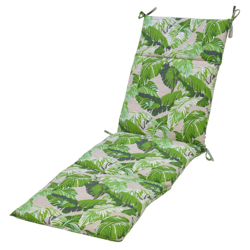 Fern Tropical  Outdoor Chaise Lounge Cushion