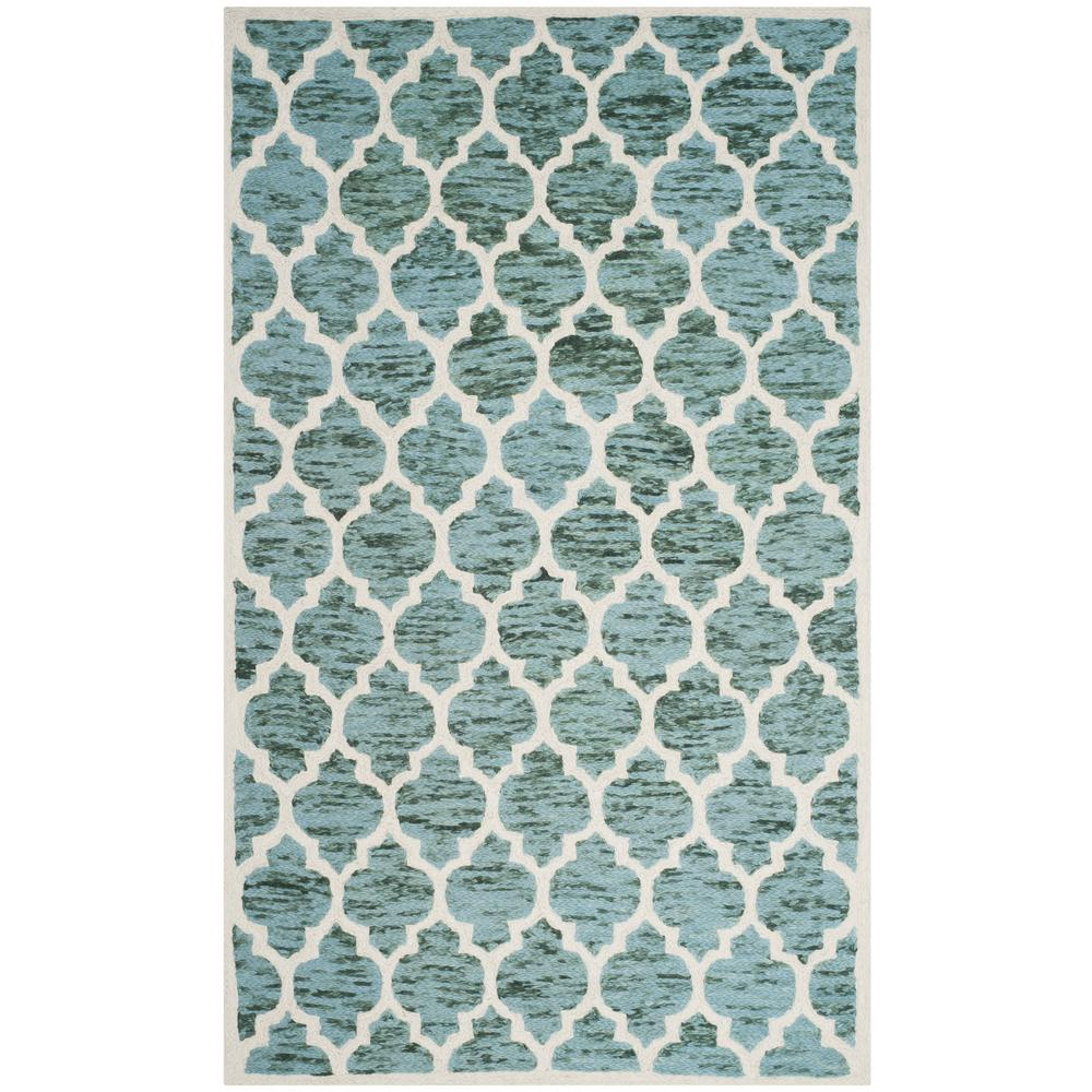 Turquoise And Brown Rug: Safavieh Himalaya Turquoise/Ivory 4 Ft. X 6 Ft. Area Rug