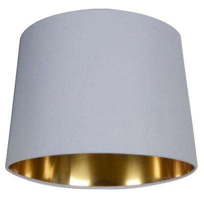10 in. White with Gold Lining Lamp Shade