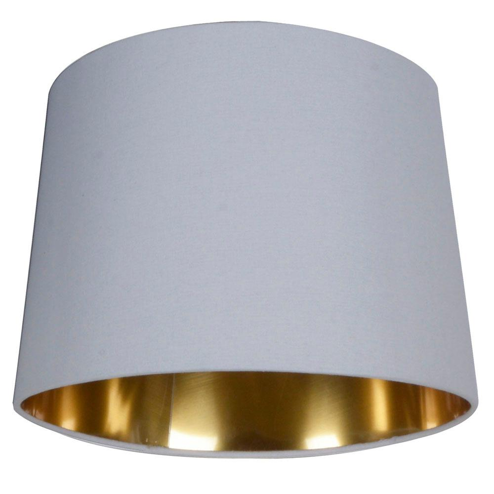 White With Gold Lining Lamp Shade
