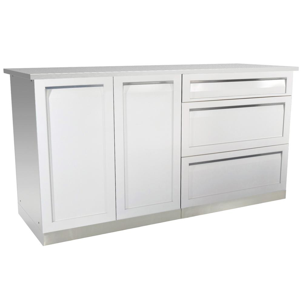 4 piece kitchen cabinets 4 outdoor 3 66 in x 36 in x 24 in stainless 10251