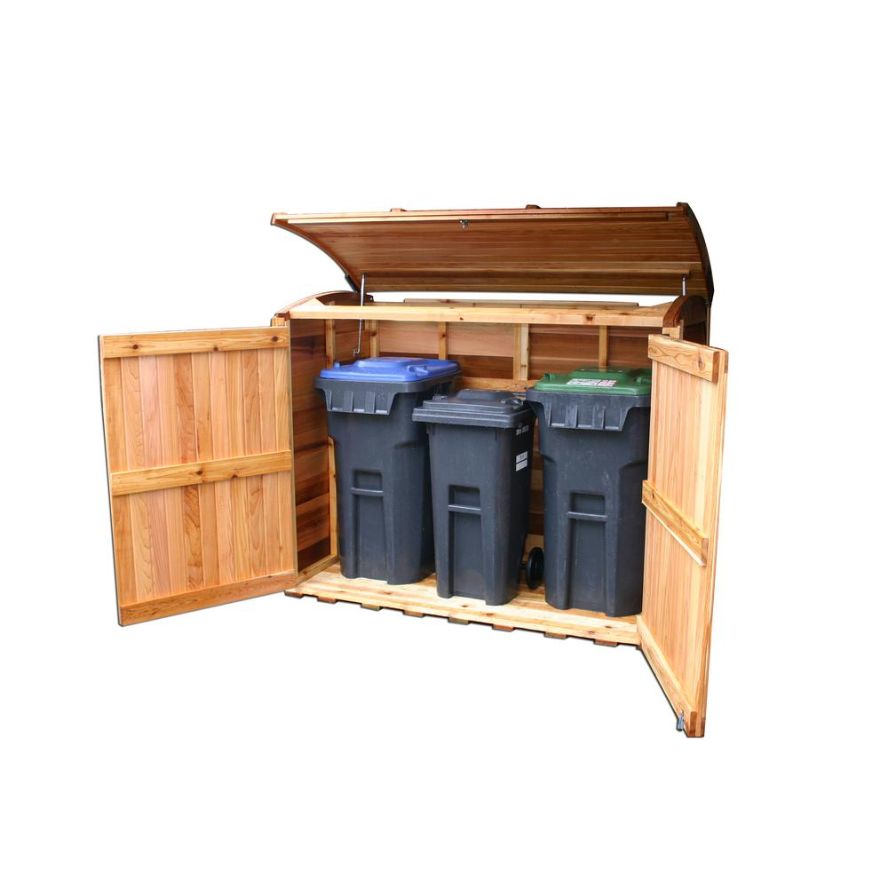 Outdoor Living Today 6 ft. x 3 ft. Oscar Waste Management Shed