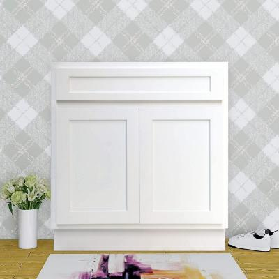 39 in. W x 21 in. D x 32.5 in. H 2-Doors Bath Vanity Cabinet Only in White