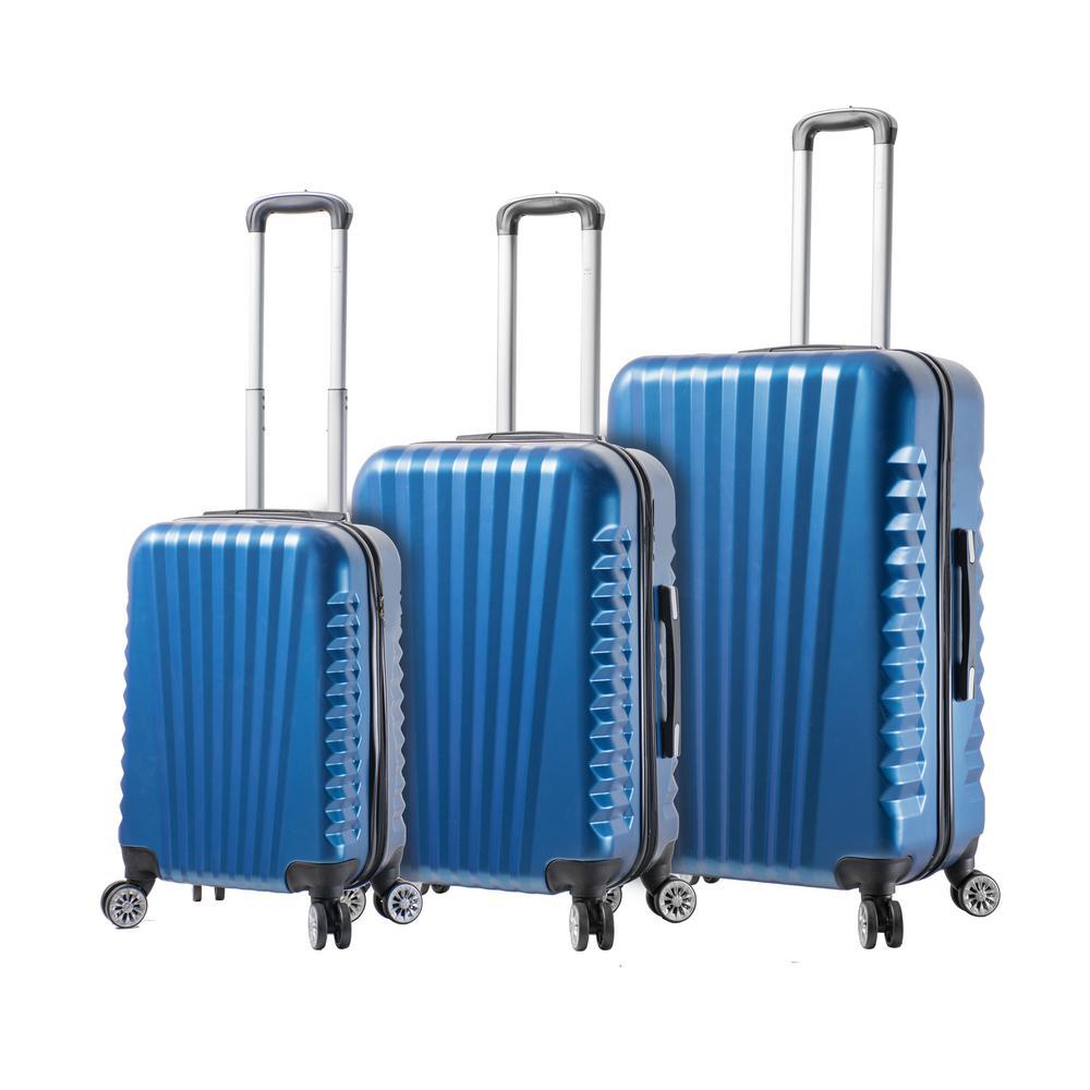 Mia Toro Catania 3-Piece Blue Spinner Luggage Set V1048-3PC-BLUNL