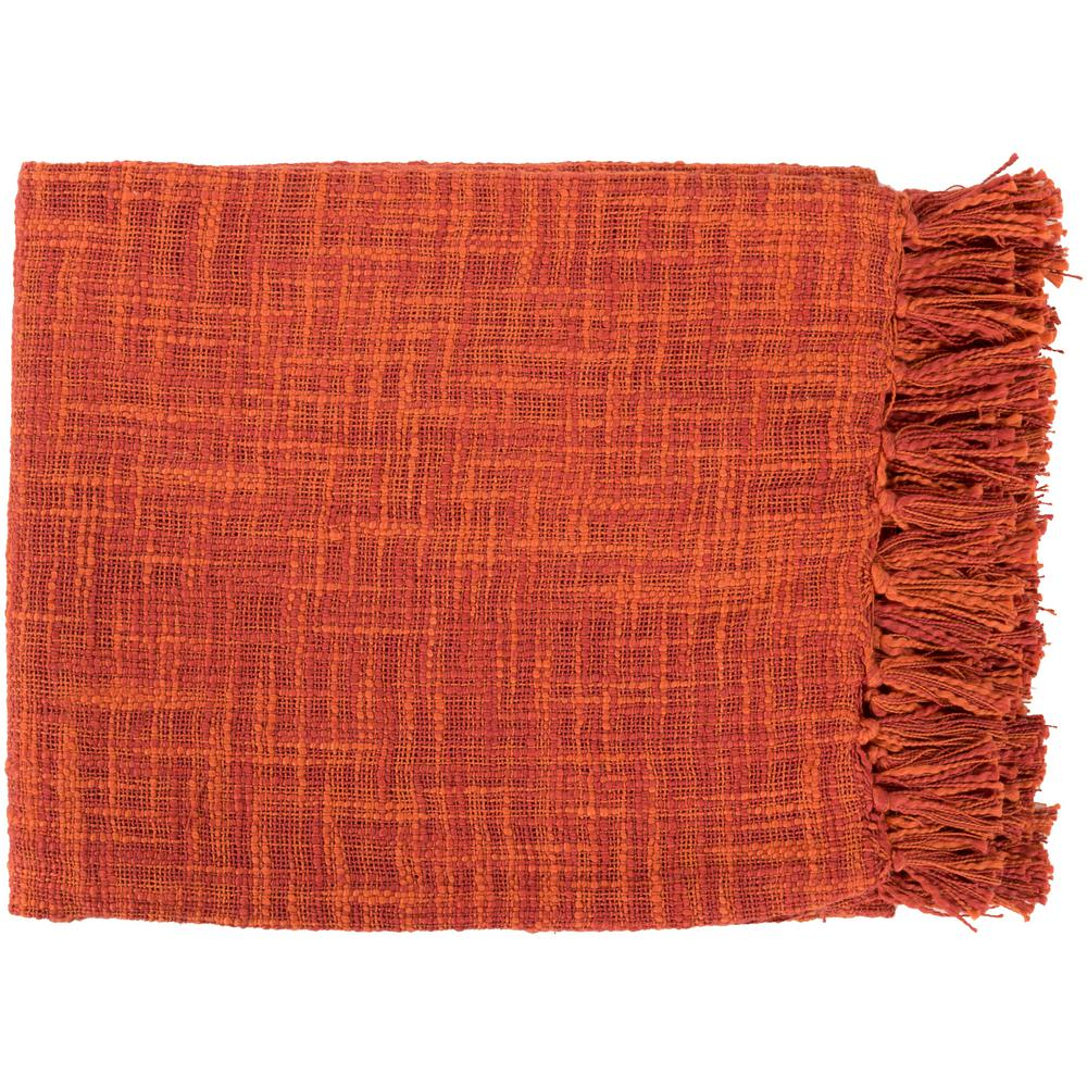 Phoebe Rust Cotton Throw