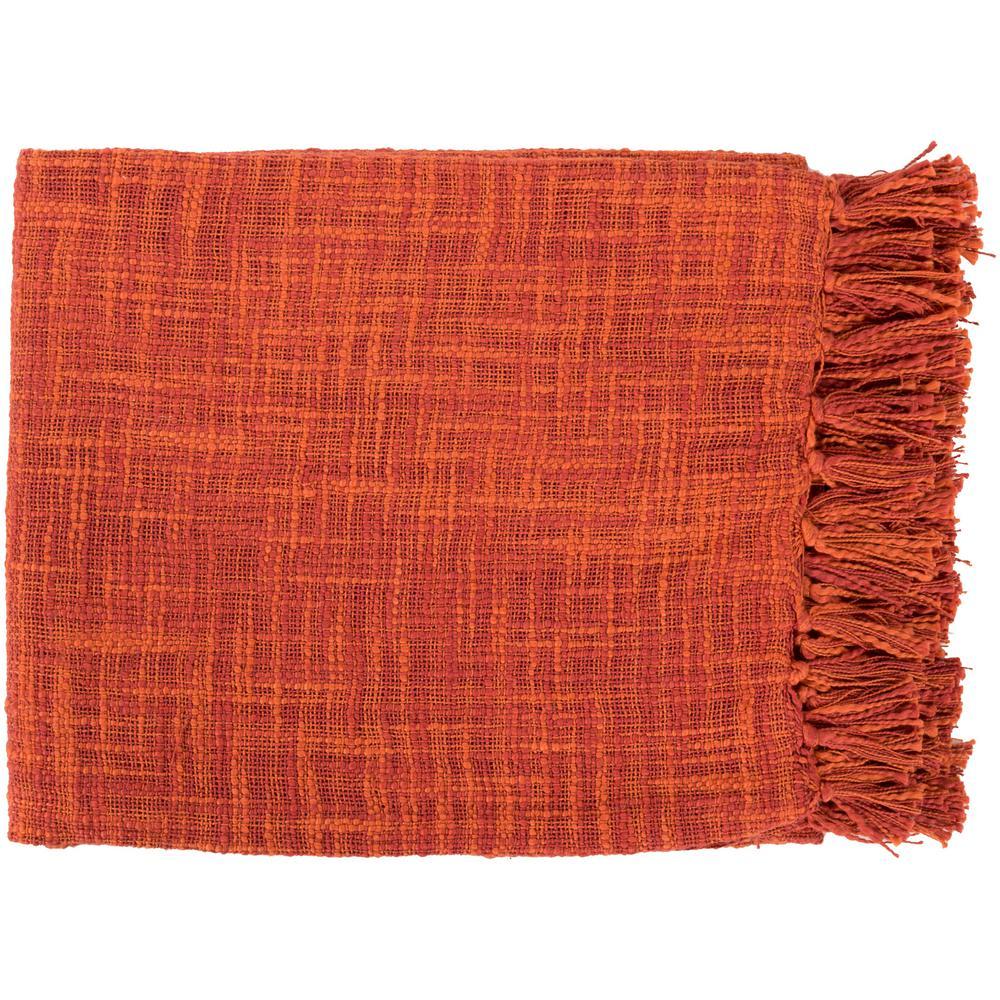 Phoebe Rust Cotton Throw