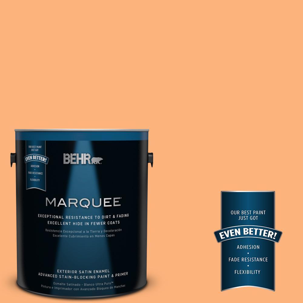 BEHR MARQUEE 1-gal. #P220-5 Fuzzy Peach Satin Enamel Exterior Paint