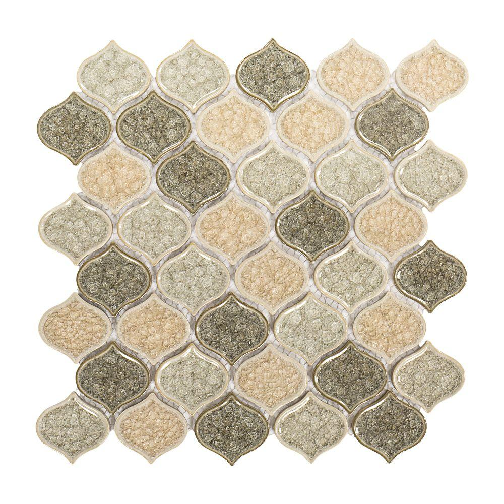 Jeffrey Court Crushed Sunset In X In X Mm Ceramic - Ceramic tiles mosaics for sale