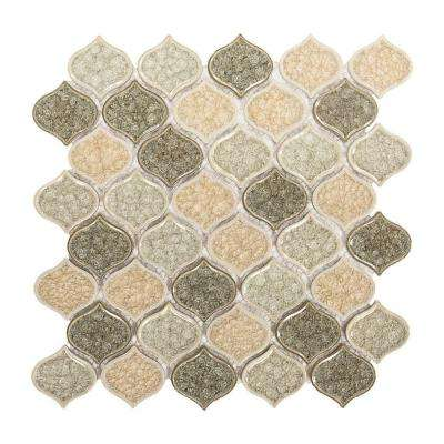 Crushed Sunset 10-5/8 in. x 11-5/8 in. x 8 mm Ceramic Mosaic Tile