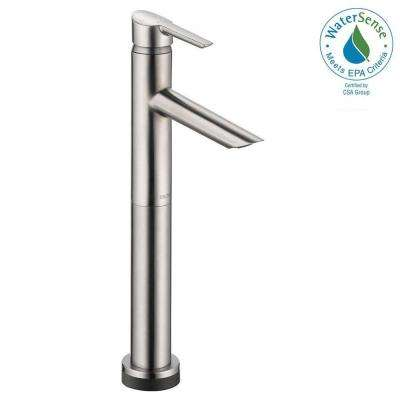 Compel Single Hole Single-Handle Vessel Bathroom Faucet with Touch2O.xt Technology in Stainless