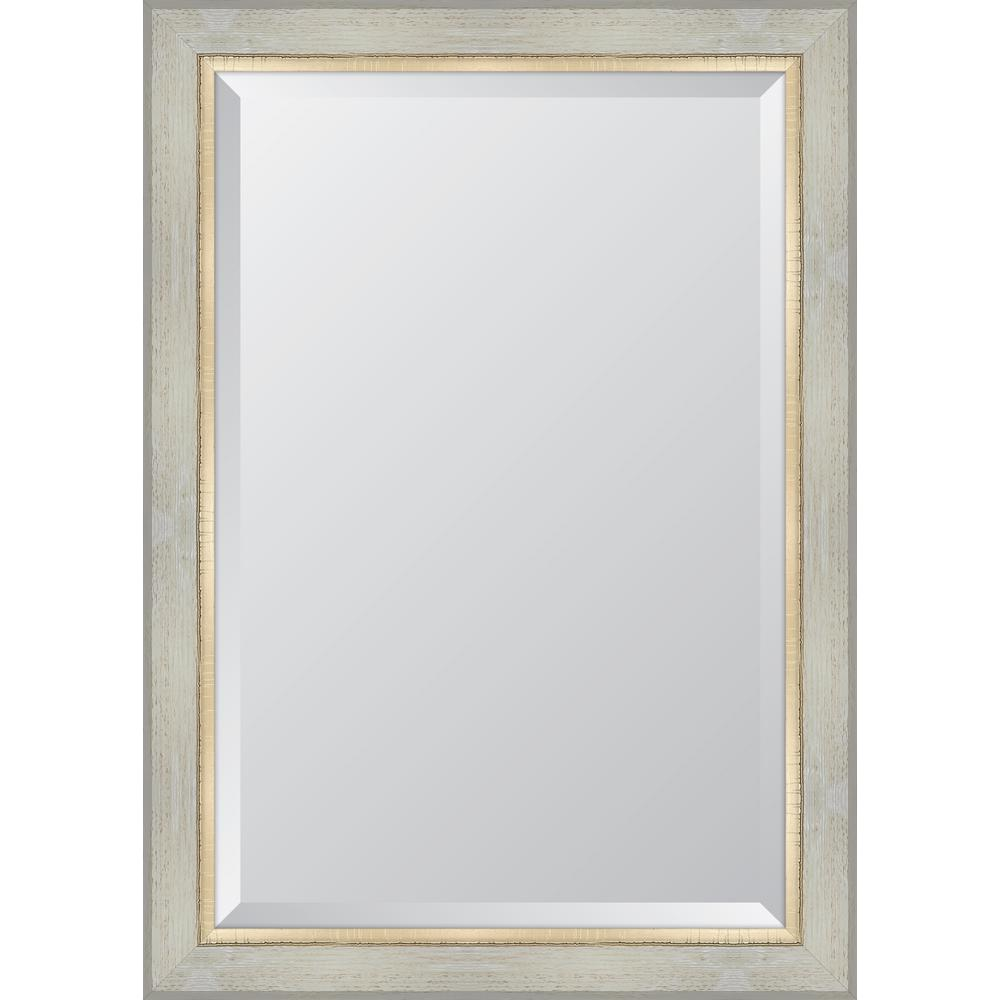 Melissa Van Hise 30 in. x 42 in. White Catalina Resin Frame Mirror ...