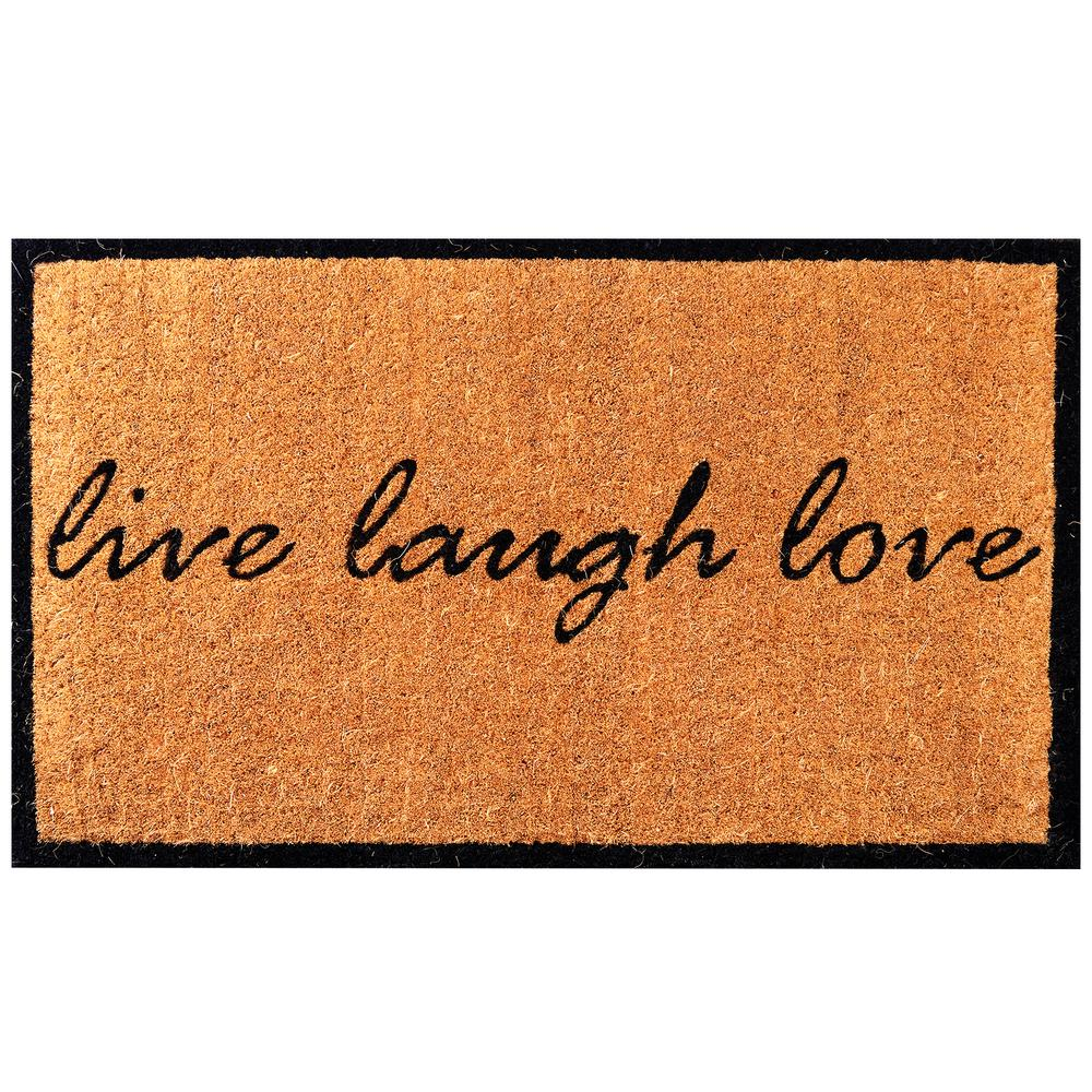 """Classic Coir Straw Outdoor Welcome Mat with Double Border 18/"""" x 30/"""""""