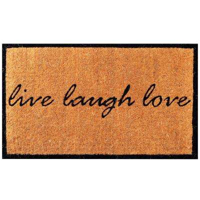 Live Love Laugh 30 in. x 18 in. Coir Door Mat