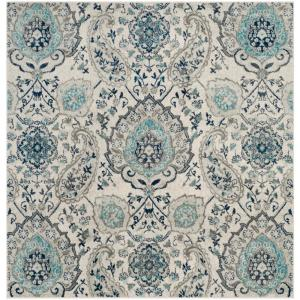 Madison Cream/Light Gray 6 ft. 7 in. x 6 ft. 7 in. Square Area Rug