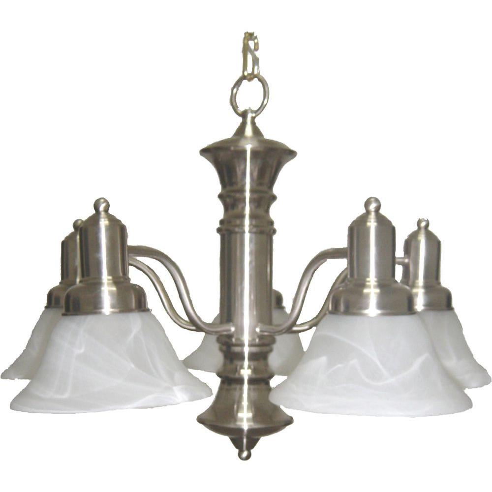 Maxim lighting newburg 5 light satin nickel chandelier 20325mrsn maxim lighting newburg 5 light satin nickel chandelier mozeypictures Images