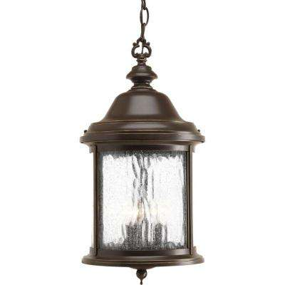 Ashmore Collection 3-Light Outdoor Antique Bronze Hanging Lantern