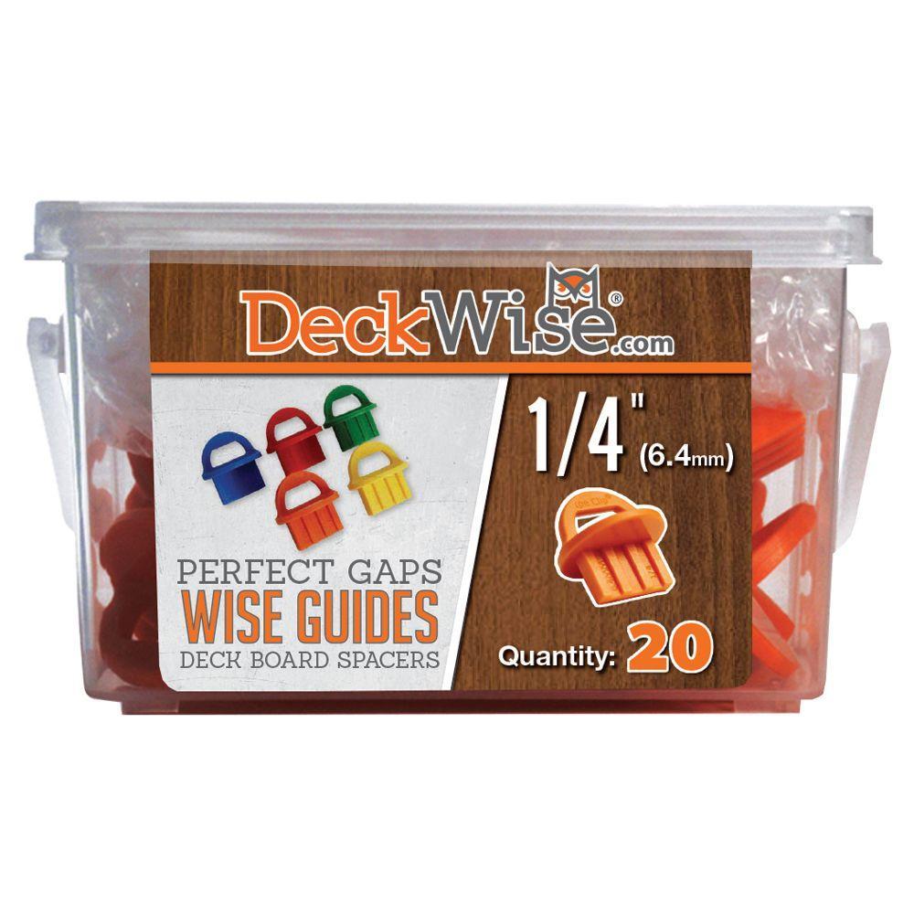 DeckWise WiseGuides 1/4 in. Gap Deck Board Spacer for Hidden Deck Fasteners (20-Count)