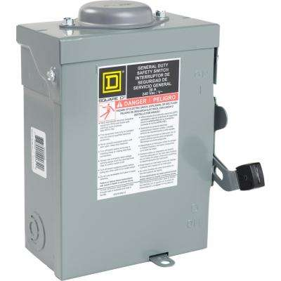 30 Amp 240-Volt 2-Pole Non-Fuse Outdoor General Duty Safety Switch