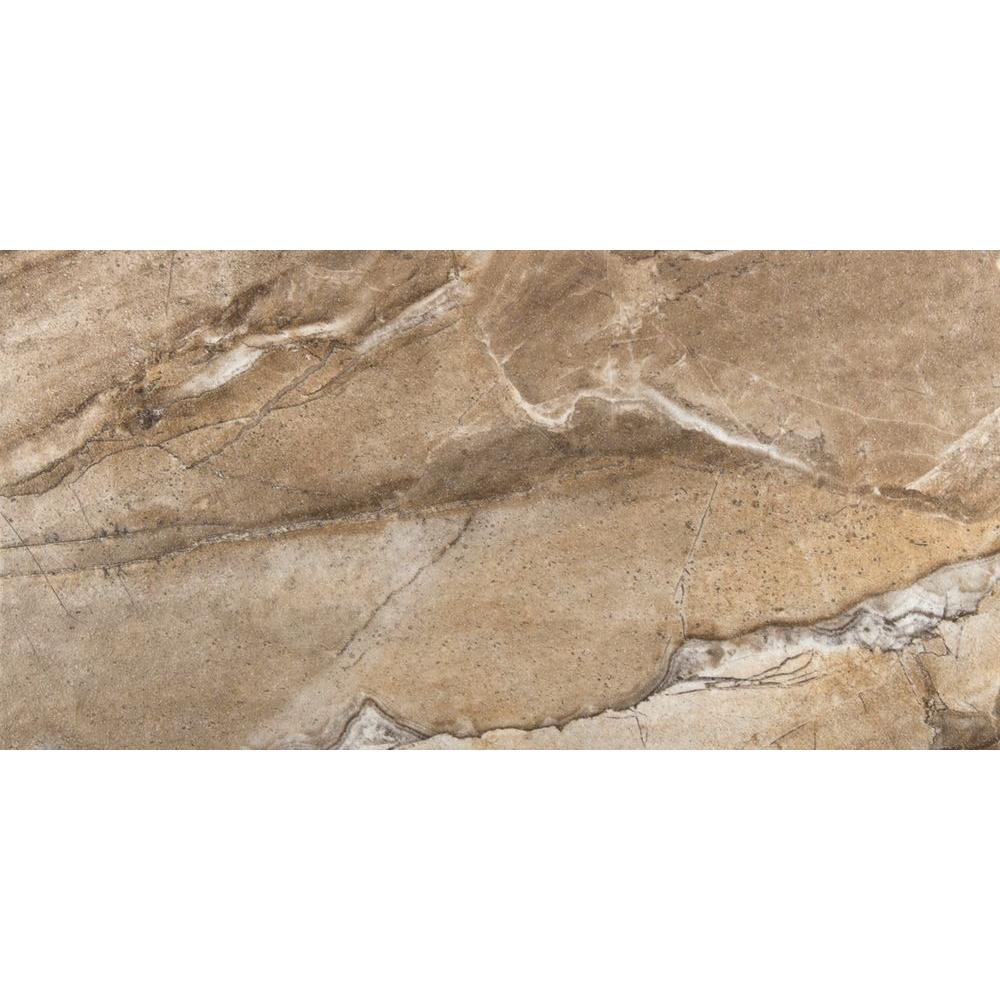 Eurasia Noce 12 in. x 24 in. Porcelain Floor and Wall