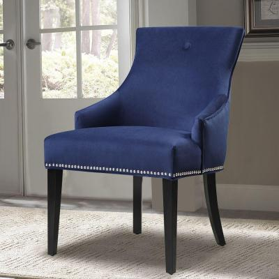 Blue Fabric Side Chair
