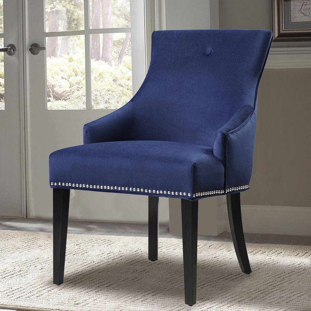 PRI Blue Fabric Side Chair