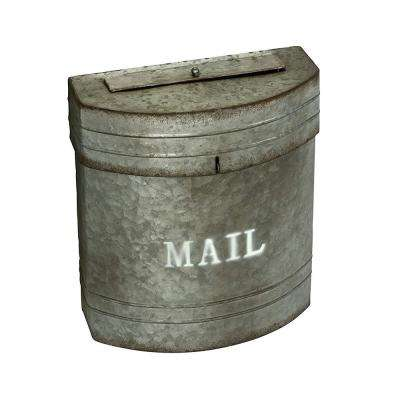 Sandy Grey Galvanized Pail Mailbox