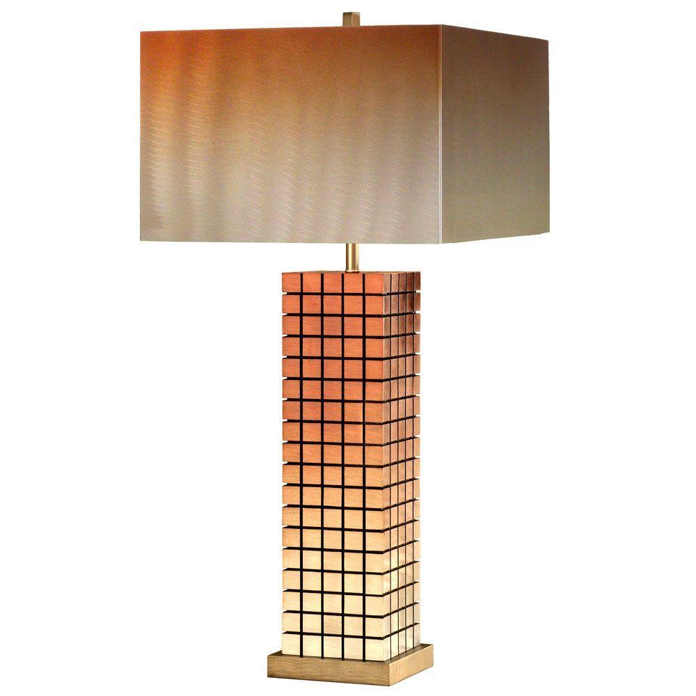 NOVA Bronze Grid, Table Lamp