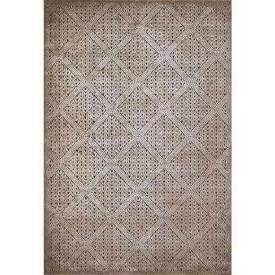 Weathered Treasures Devonshire Taupe 5 ft. 3 in. x 7 ft. 2 in Area Rug