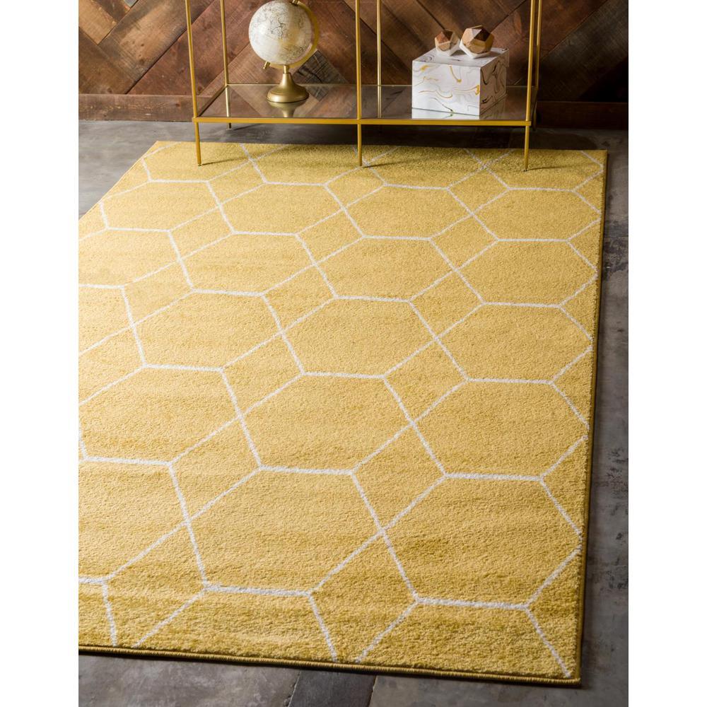 Trellis Frieze Yellow/Ivory 8 ft. x 10 ft. Geometric Area Rug