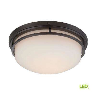 Ramsey Oil Rubbed Bronze Interior LED Flush Mount