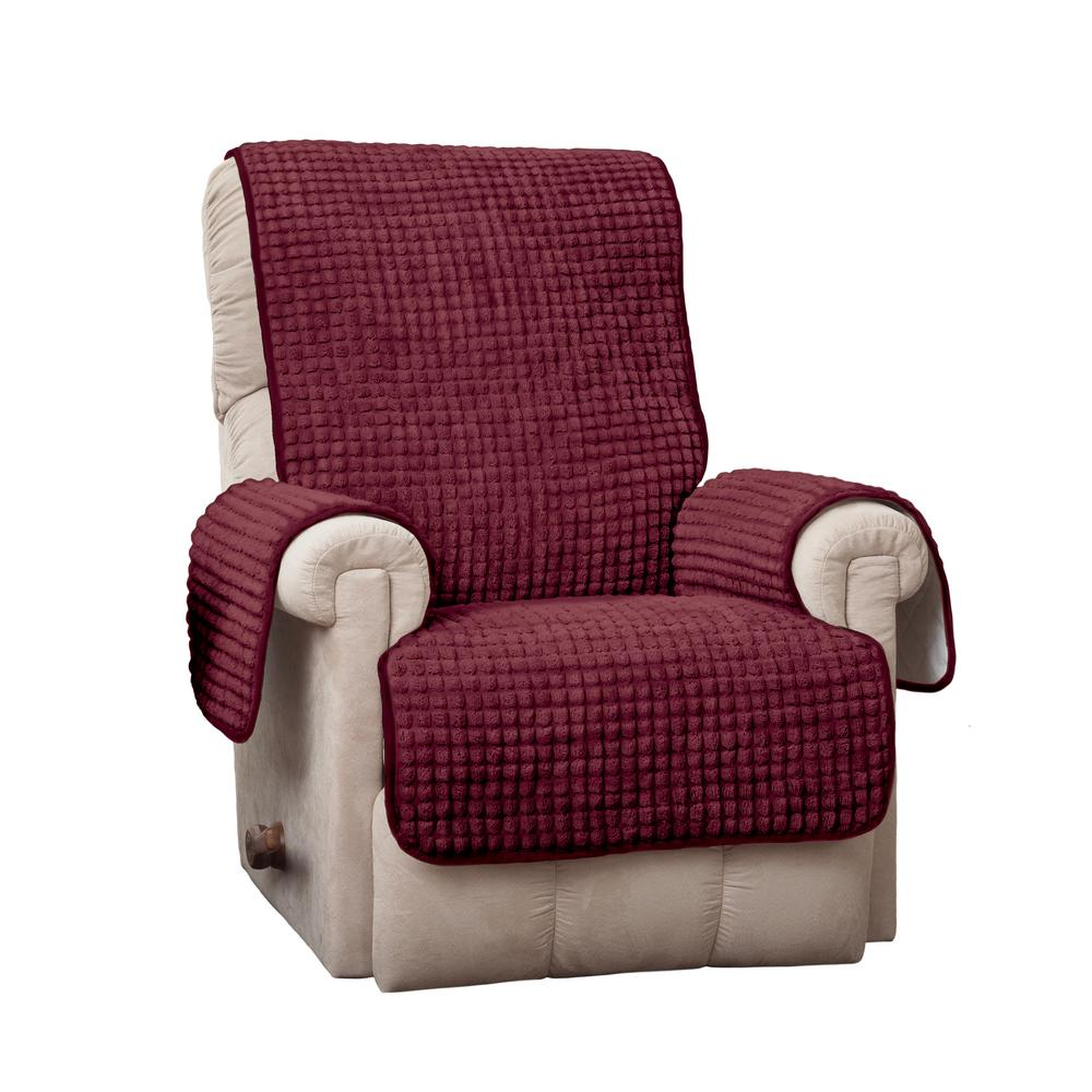 Puff Recliner/Wing Burgundy Furniture Protector