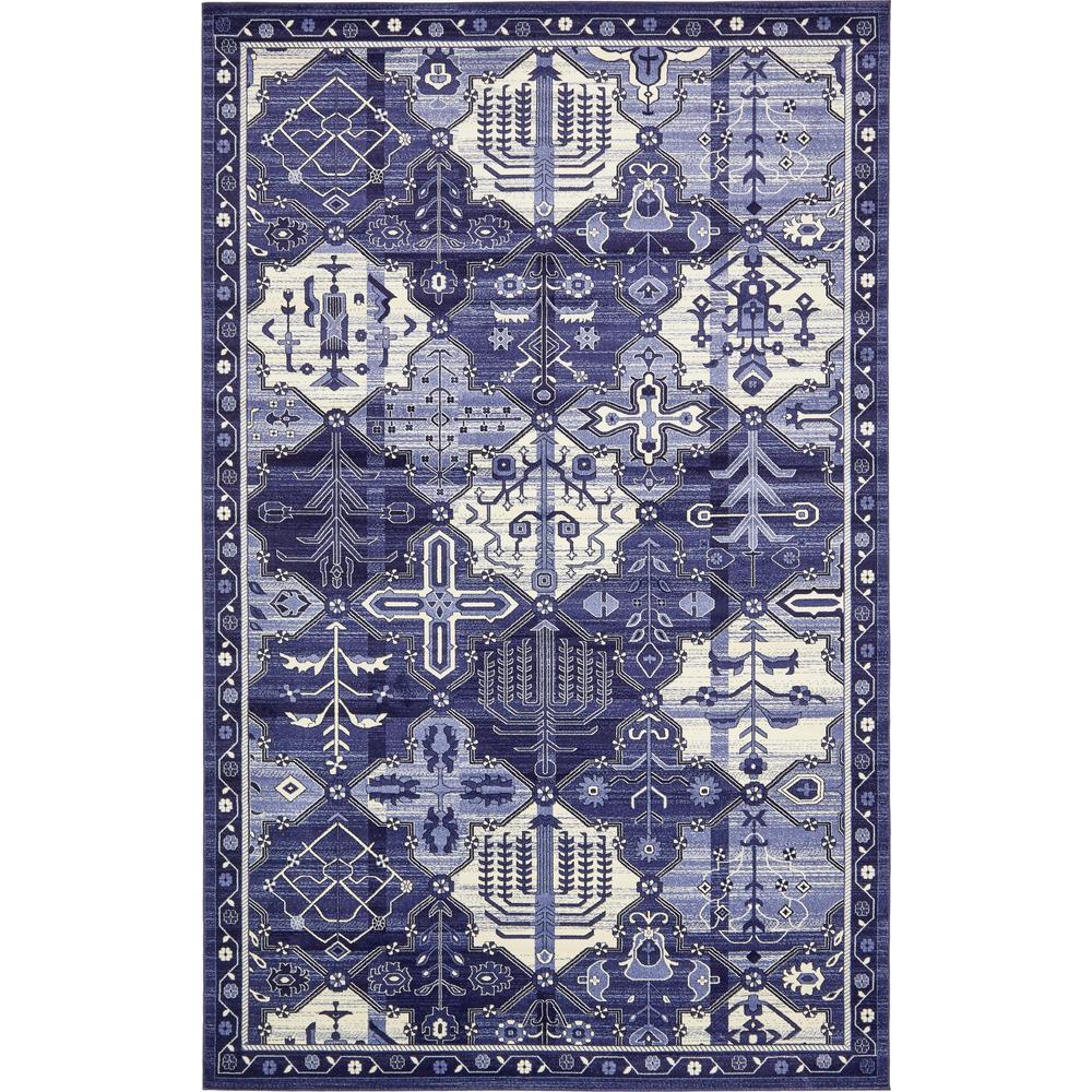 Unique Loom La Jolla Cathedral Blue 10 6 X 16 5 Area Rug
