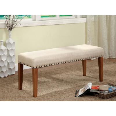Walsh Natural Tone and Beige Industrial Style Bench