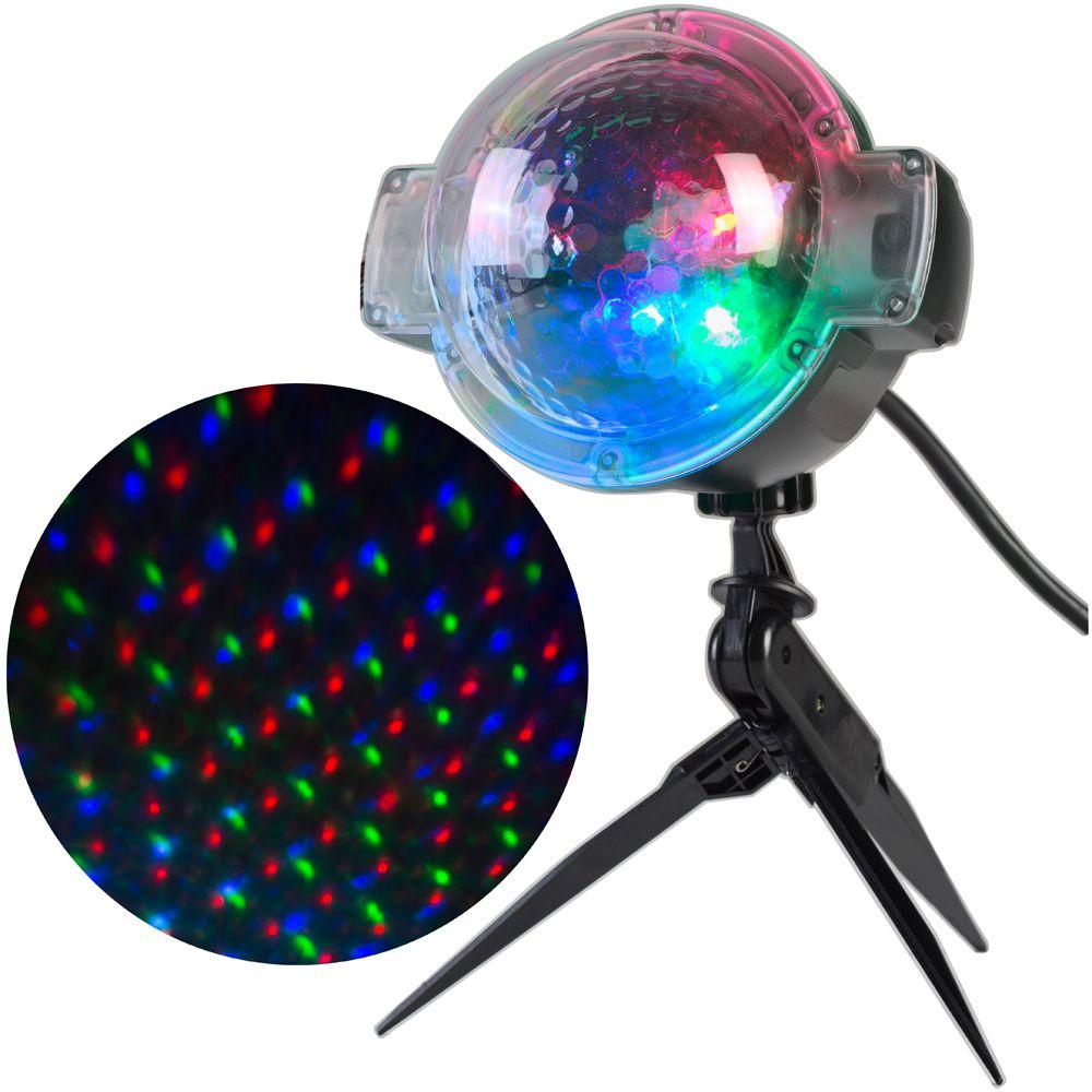 LightShow LightShow SnowFlurry Multi-Color 61-Programs Projection Stake