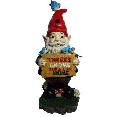 Solar 'There's Gnome Place Like Home' Gnome Statue-TM