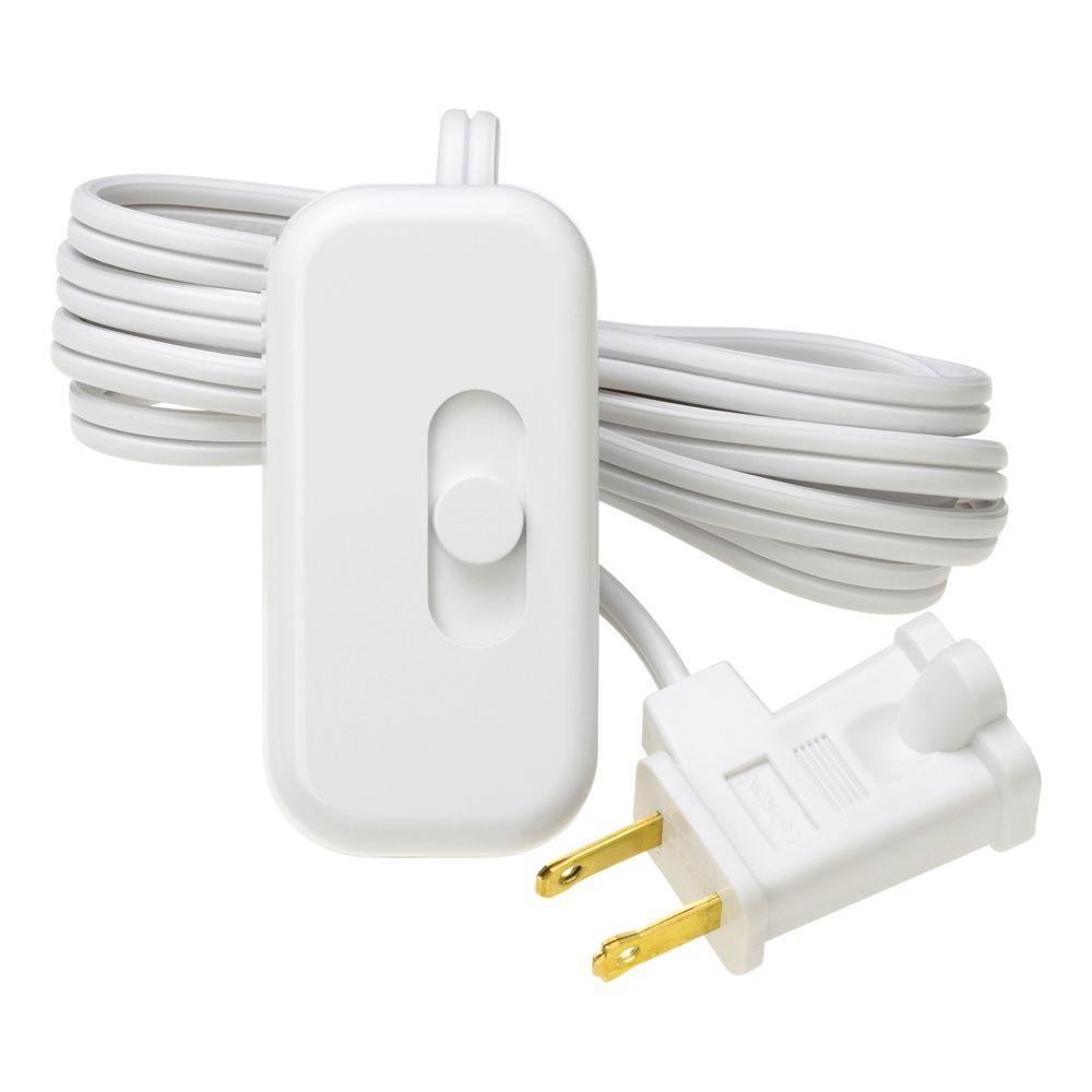 Lutron Credenza 100-Watt Plug-In Lamp CFL-LED Dimmer - White